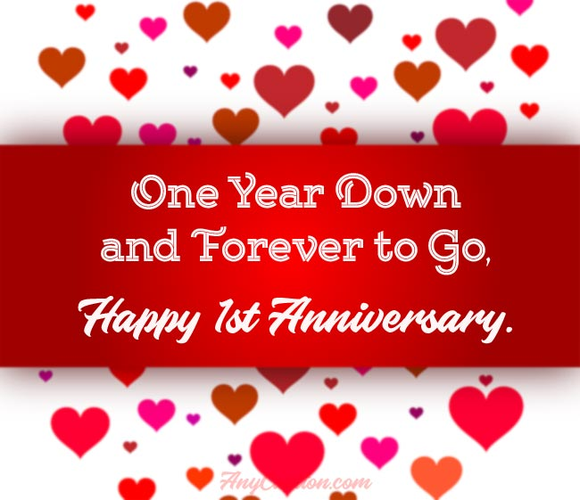First Anniversary Captions