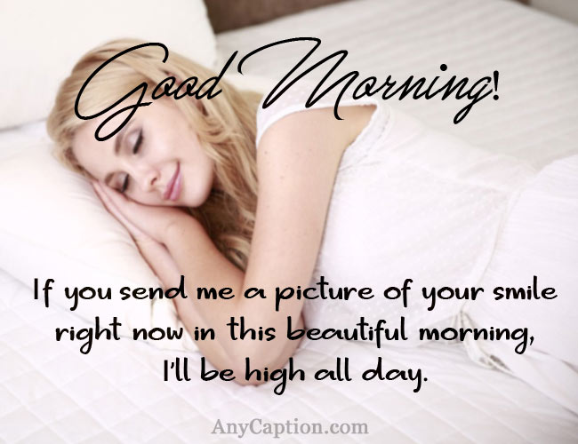 Flirty Good Morning Captions