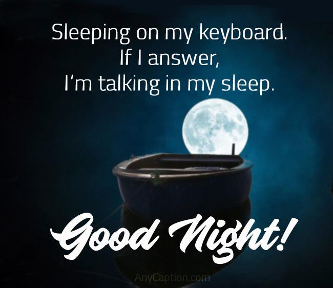Funny Goodnight Captions
