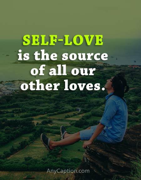good self love captions