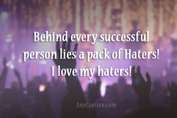haters captions