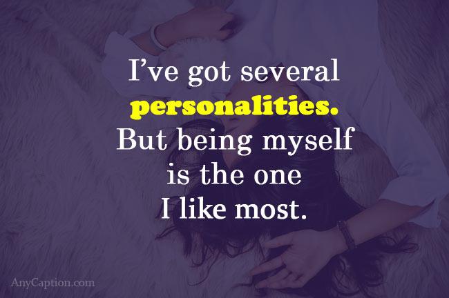 personality selfie captions