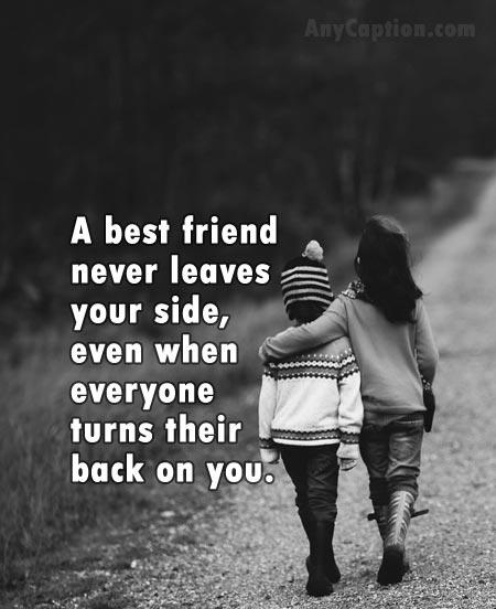 real friendship caption