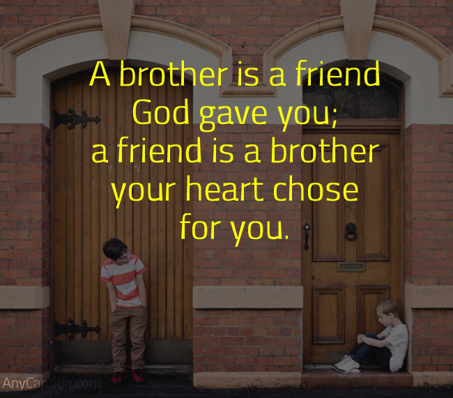 Caption for Brothers Bond