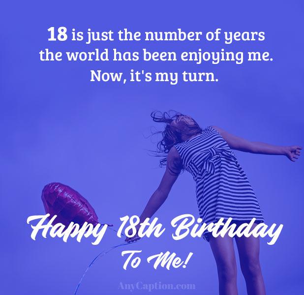 Funny 18th Birthday Captions