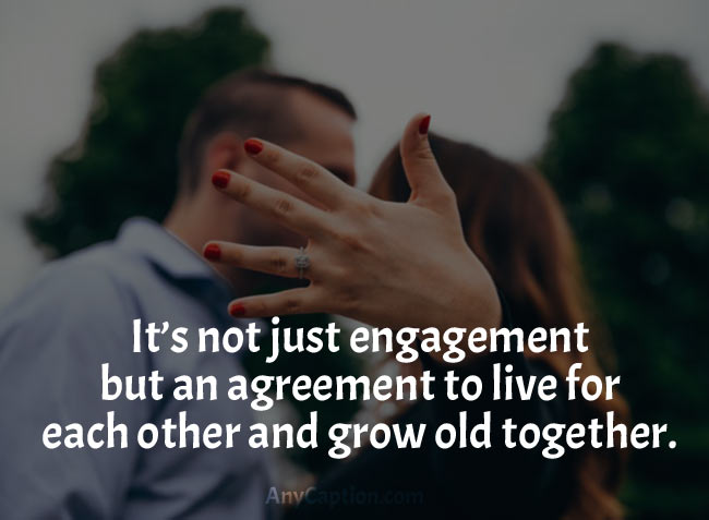 engagement captions for pictures announce the big news