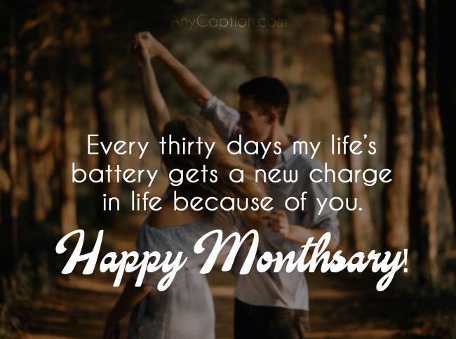 Romantic Captions for Monthiversaries