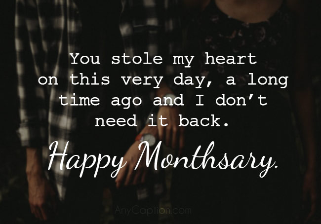 Funny Monthsary Captions