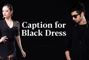 black dress caption