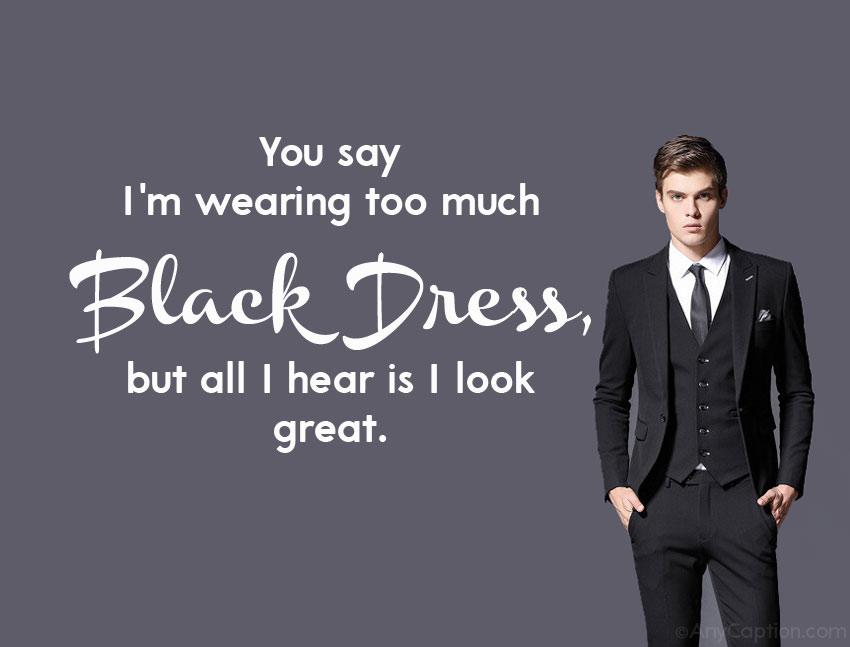 black dress captions for Instagram